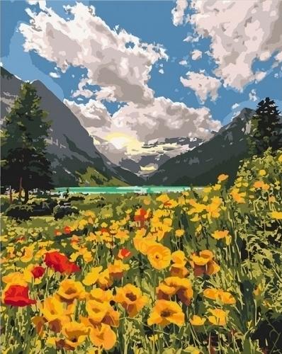 Картины по номерам Величественные Альпы