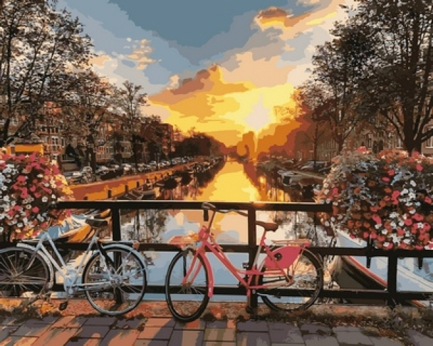 Картины по номерам Каналы Амстердама
