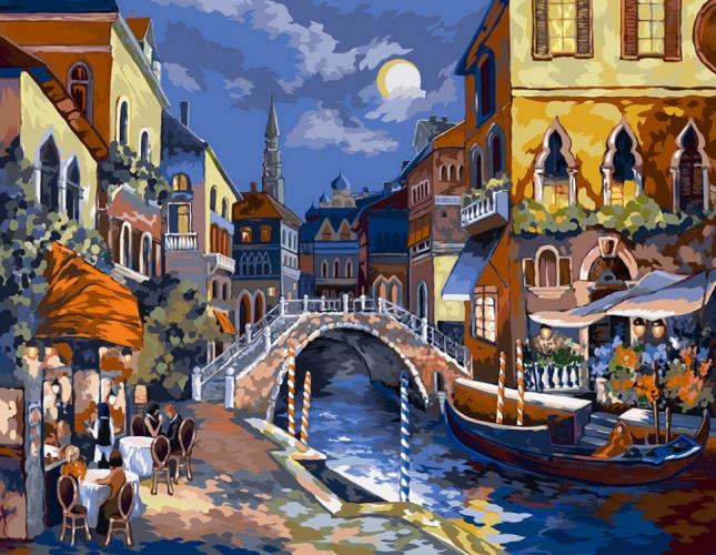 Картины по номерам Ночная Венеция