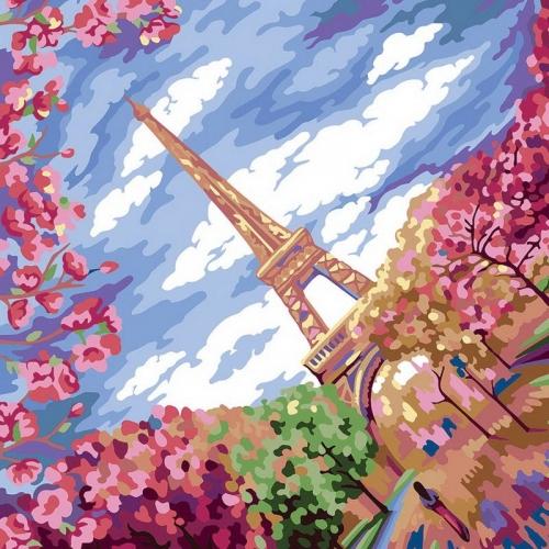 Картины по номерам Весна в Париже