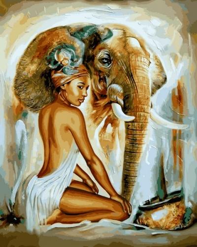 Картины по номерам Африканский колорит