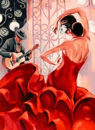 Картины по номерам Фламенко