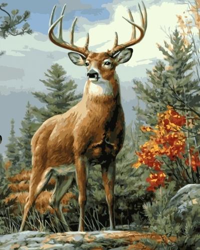 Картины по номерам Величний олень