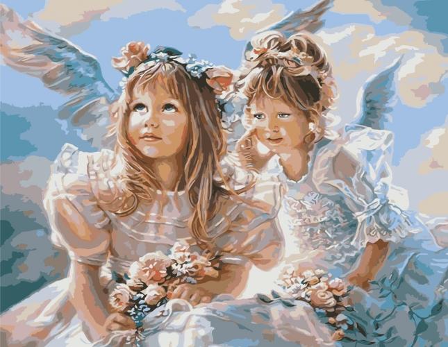 Картины по номерам Дві дівчинки-янгола