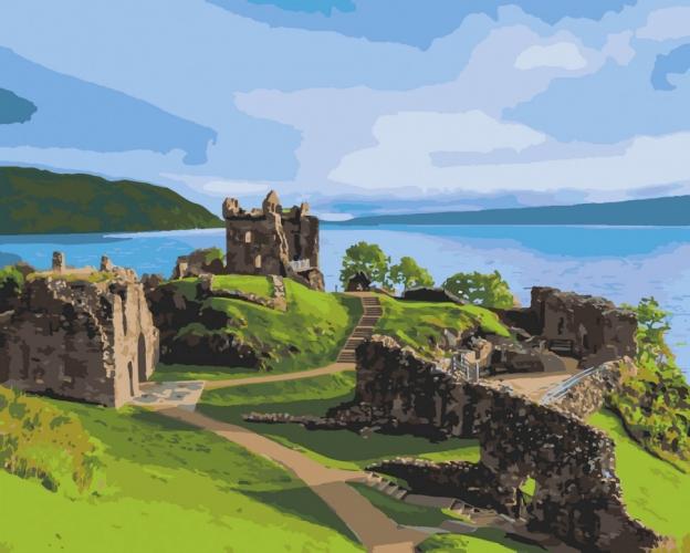 Картины по номерам Замок Аркарт. Шотландия