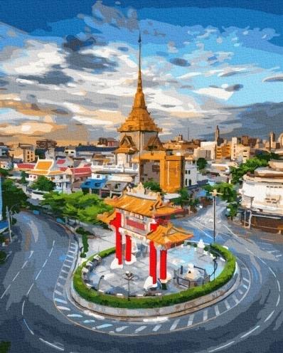 Картины по номерам Рассвет в Бангкоке