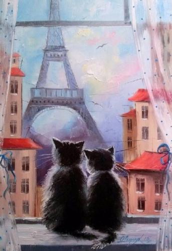 Картины по номерам Пара котиков