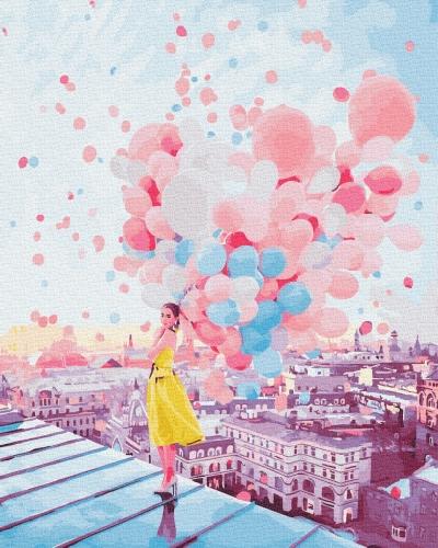 Картины по номерам Рассвет над крышами Парижа