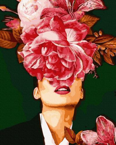Картины по номерам Алый цветок
