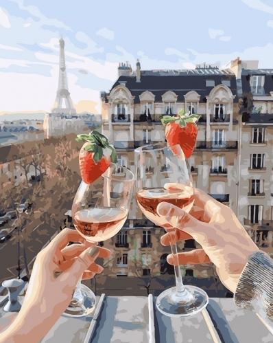 Картины по номерам Бокалы Парижа