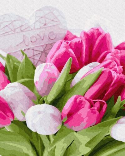 Картины по номерам Тюльпаны с любовью