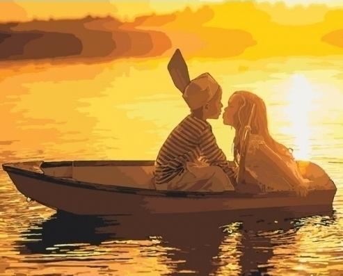 Картины по номерам Первая любовь