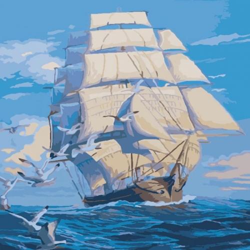 Картины по номерам На всех парусах