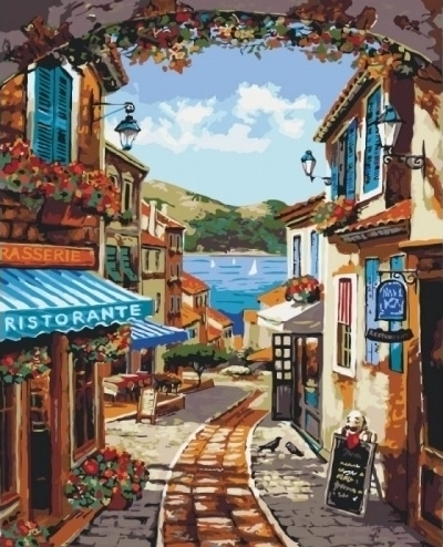 Картины по номерам Волшебноя улочка