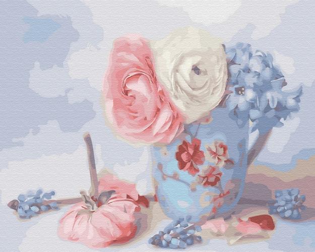 Картины по номерам Нежные цветочки