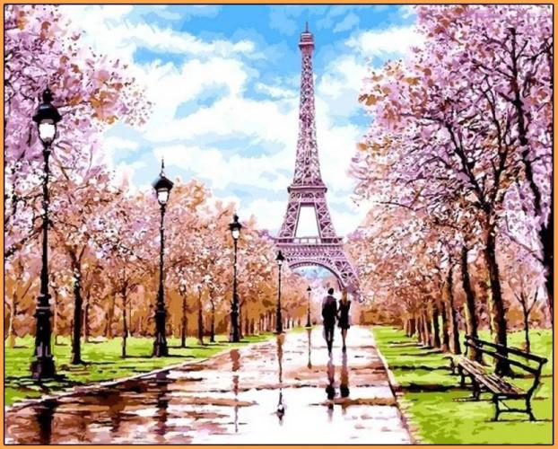 Картины по номерам Апрель в Париже