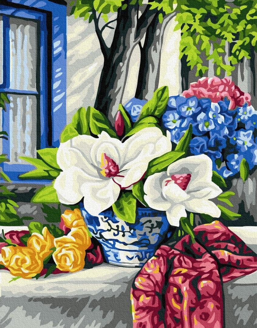 Картины по номерам Цветущий стол