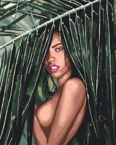 Картины по номерам Соблазнительная амазонка