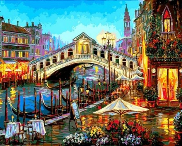 Картины по номерам Огни ночной Венеции