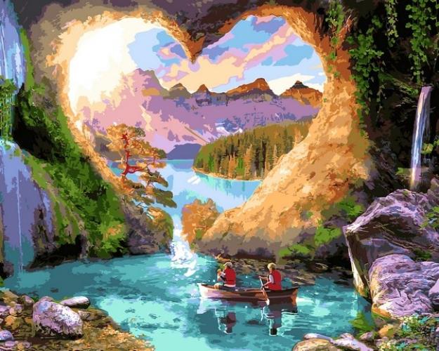Картины по номерам Печера любви