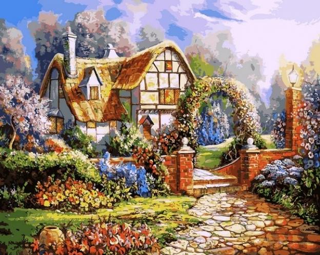 Картины по номерам Сказочный сад