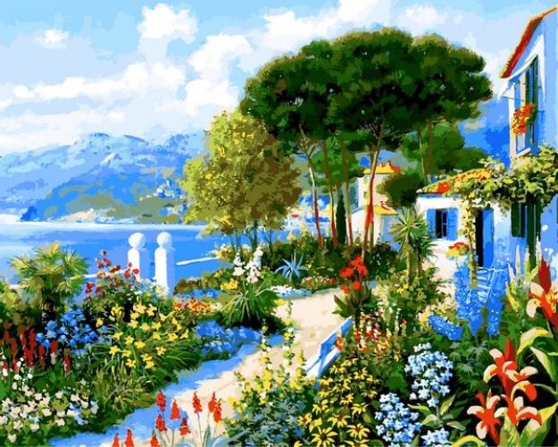Картины по номерам Сад у дома