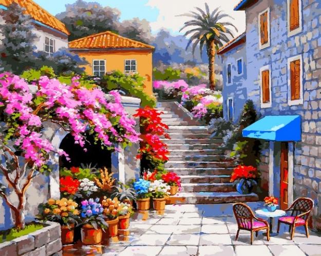 Картины по номерам Цветочный магазин