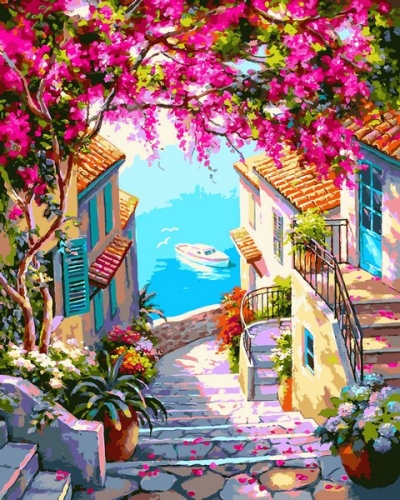 Картины по номерам Лестница к морю