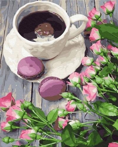 Картины по номерам Кофе со вкусом весны