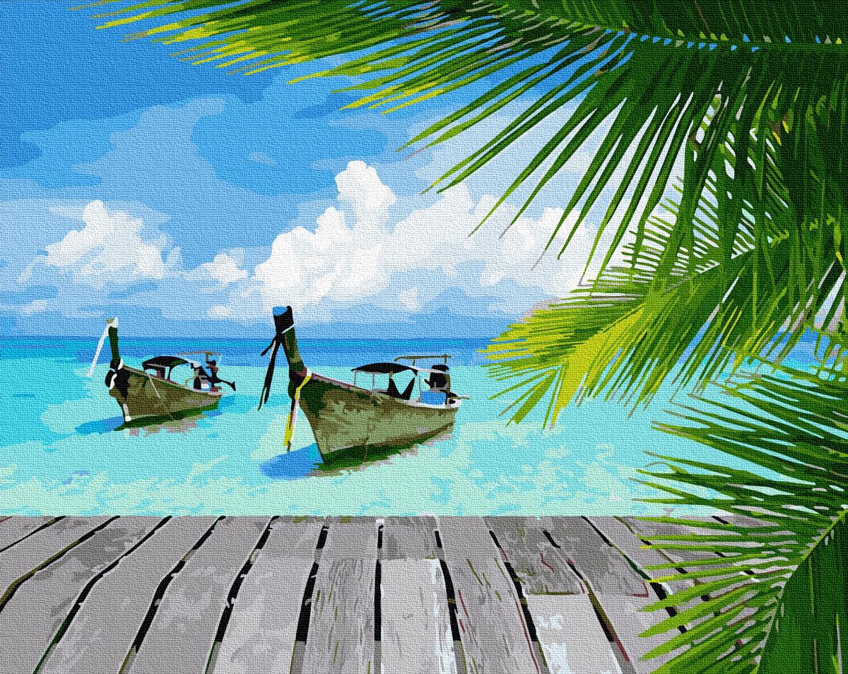 Картины по номерам Райське побережжя