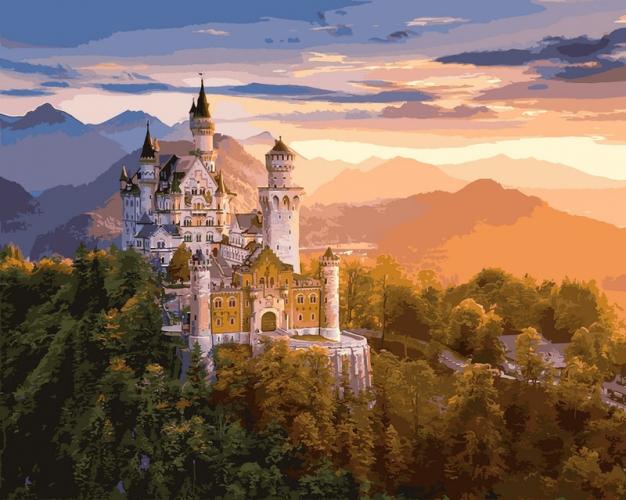 Картины по номерам Замок в лучах заката