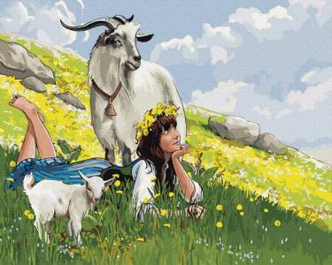 Картины по номерам Пастушка на горе