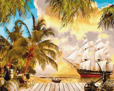 Картины по номерам Тропический берег