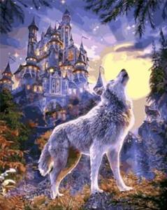 Картины по номерам Волчья луна