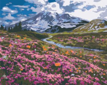 Картины по номерам Альпийский луг
