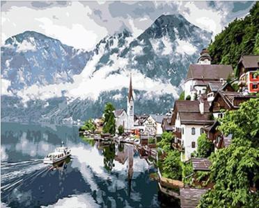 Картины по номерам Швейцарские Альпы