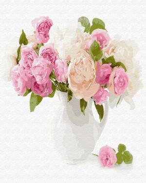 Картины по номерам Нежный букет цветов