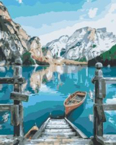 Картины по номерам Лодка у озера Брайес