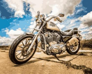 Картины по номерам  Harley Davidson