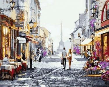 Картины по номерам Летний вечер в Париже
