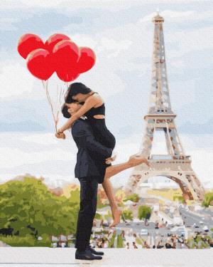 Картины по номерам Закохані в Парижі