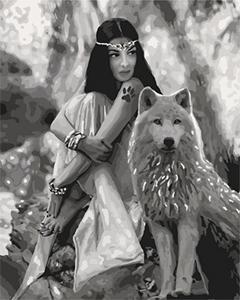 Картины по номерам Волчица