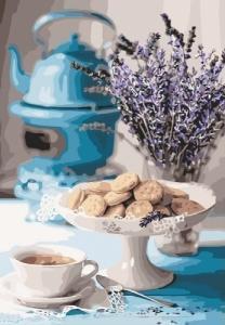 Картины по номерам Лавандовое чаепитие