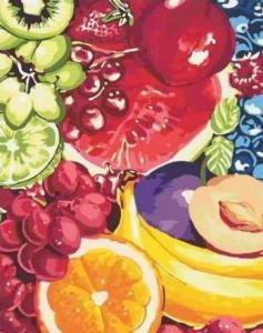 Картины по номерам Сладкие фрукты