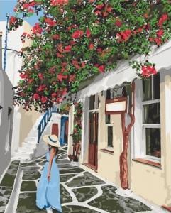 Картины по номерам Уютными улочками