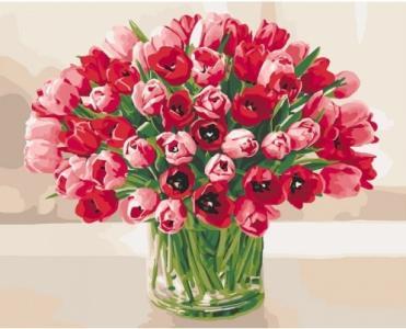 Картины по номерам Жгучие тюльпаны