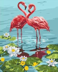 Картины по номерам Пара фламинго