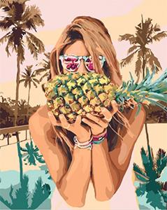 Картины по номерам Сочный ананас