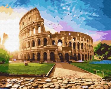 Картины по номерам Колизей на рассвете