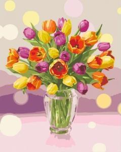 Картины по номерам Солнечные тюльпаны